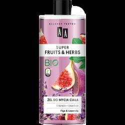 AA SUPER FRUITS&HERBS żel do mycia ciała figa&lawenda