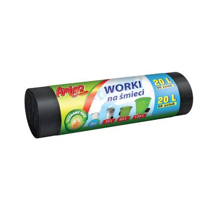 AMIGO Worki na śmieci HDPE 20L 50szt.