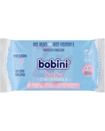Bobini Baby Chusteczki nawilżane z witaminą E 60szt.
