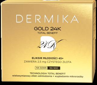 Dermika GOLD 24K TOTAL BENEFIT Eliksir młodości 45+