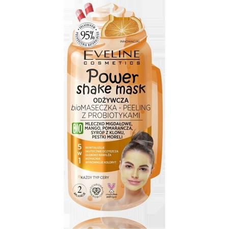 Eveline  Power Shake Odżywcza Maseczka-peeling z probiotykami 5w1 pomarańcza 10ml